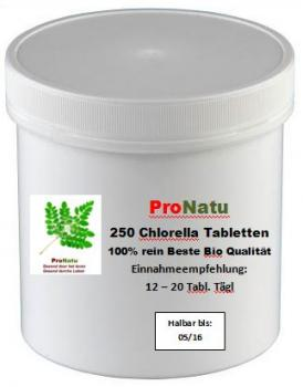 ProNatu 100% pure chlorella pyrenoidosa tablets