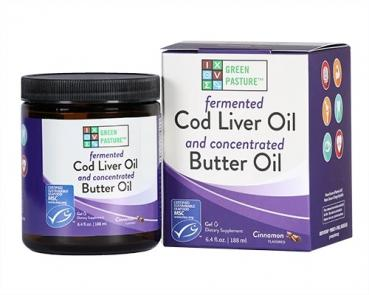 Fermented Fish Oil, Cod Liver Oil, Butter Oil - Cinnamon Tingle