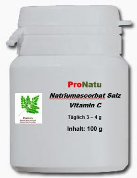 ProNatu Sodium ascorbate powder (Vitamine C)