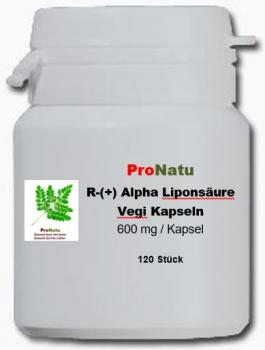 ProNatu R(+) -Alpha Lipoic Acid capsules - 120 pieces to 600 mg
